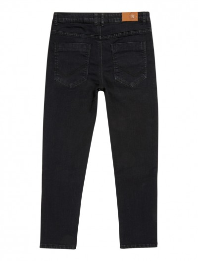 BOYS BLACK WASH JEANS_BK