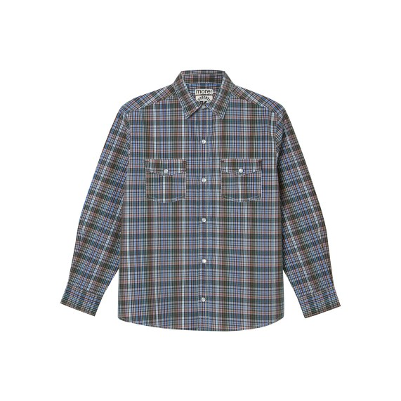 BOYS NEUTRAL CHECK SHIRT_FR