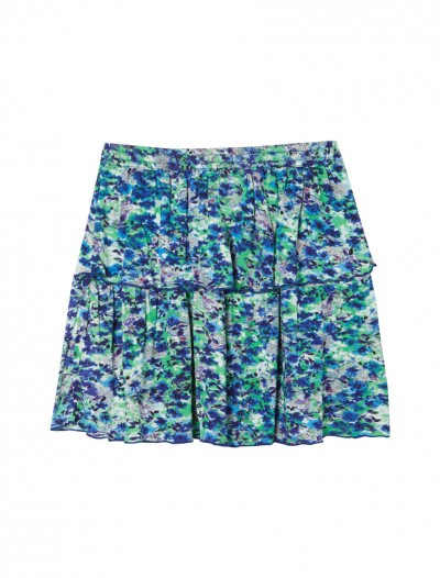 GIRLS DITSY PRINT SKIRT_BK