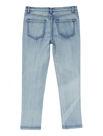 GIRLS LIGHT WASH JEANS_BK