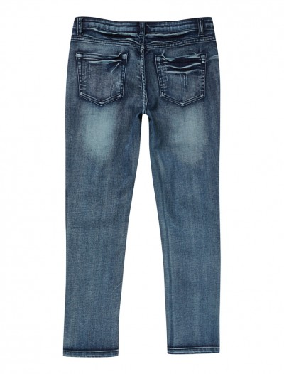 GIRLS MID WASH JEANS_BK