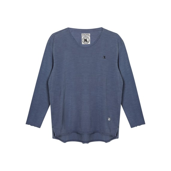 LONG SLEEVE TEE_INDIGO_FR