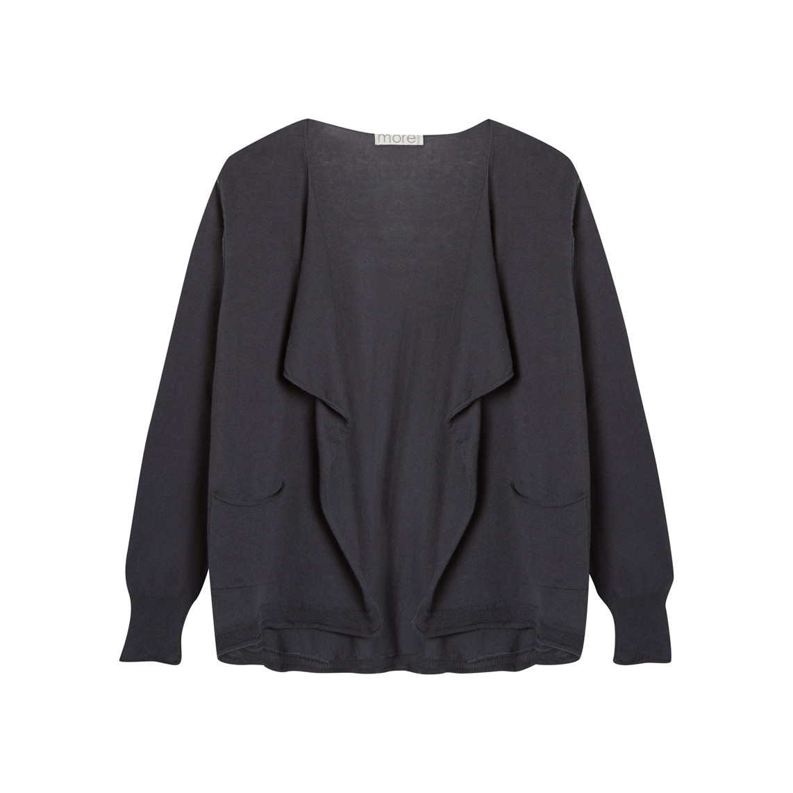 WATERFALL NECK CARDIGAN_INDIGO_FR