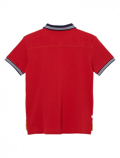 BOY POLO SHIRT_RED_BK