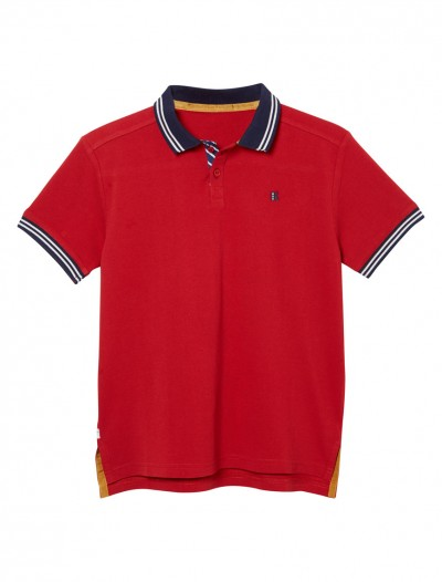 BOY POLO SHIRT_RED_FR