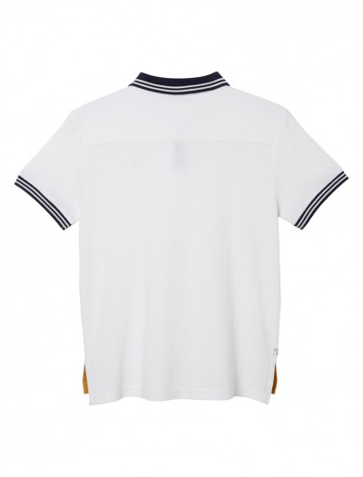 BOY POLO SHIRT_WHITE_BK