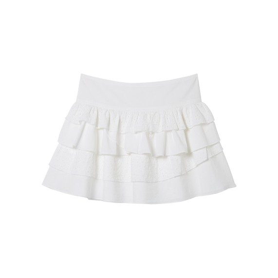 BRODERIE TIERED SKIRT_FR