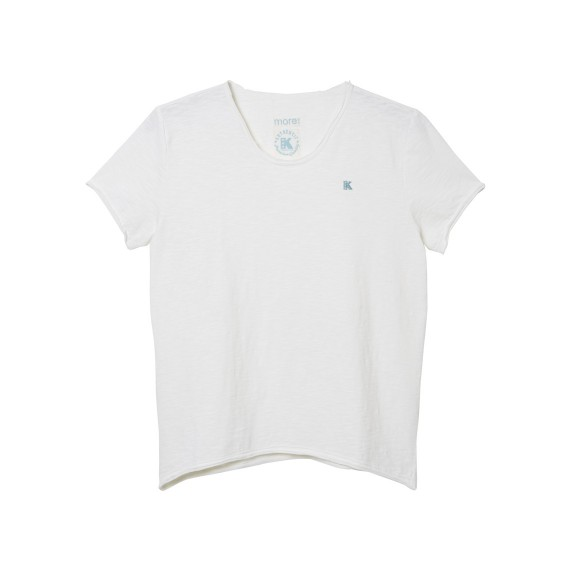 GIRLS SHORT SLEEVE TOP_WHITE_FR