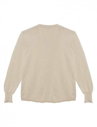 LUREX TRIM CARDIGAN_CREAM_BK