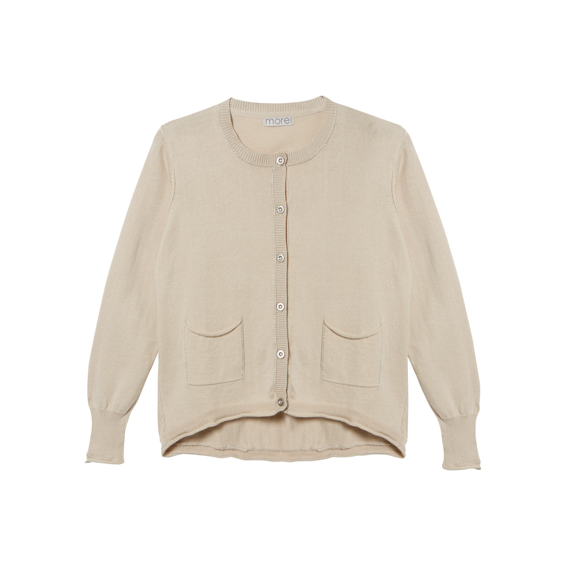 LUREX TRIM CARDIGAN_CREAM_FR