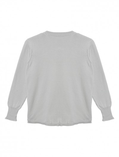LUREX TRIM CARDIGAN_GREY_BK
