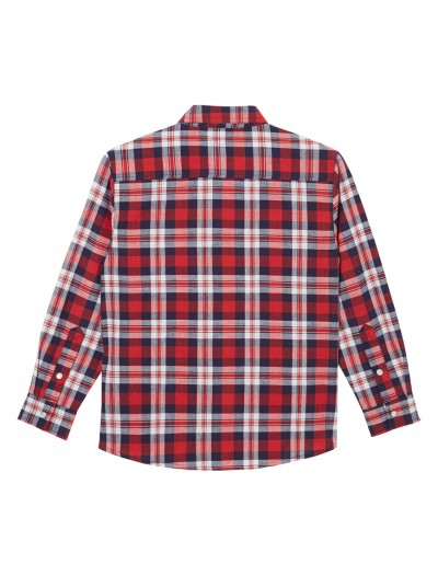 RED CHECKED LONG SLEEVE SHIRT_RED_BK