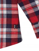 RED CHECKED LONG SLEEVE SHIRT_RED_DT 1
