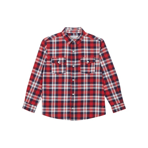 RED CHECKED LONG SLEEVE SHIRT_RED_FR