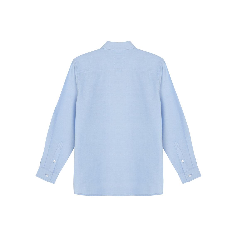 Light blue plus size generous fit long sleeved boys for Plus size light blue shirt
