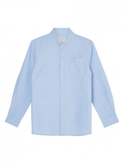 NEW boys shirt long sleeve Oxford weave back