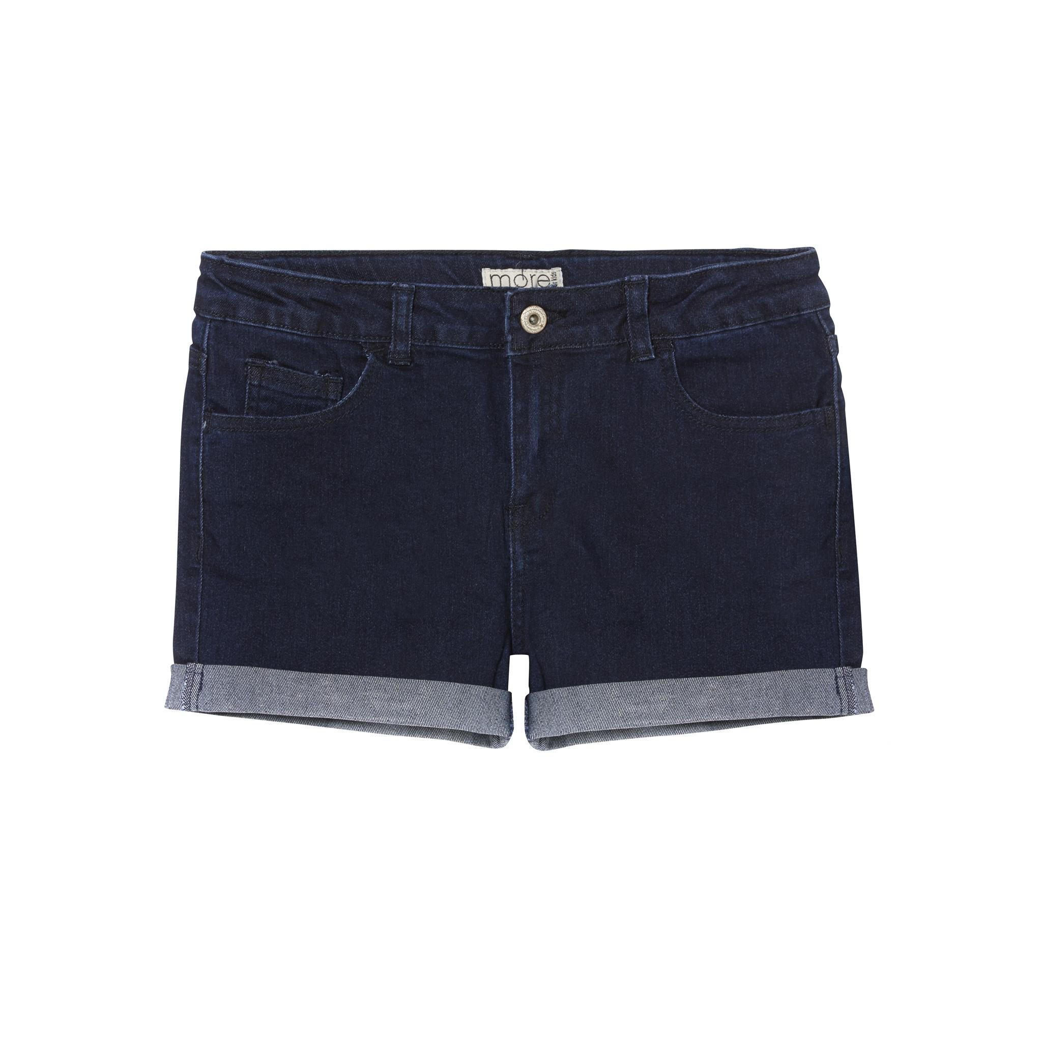 30473554 Dark Blue Plus Size, Adjustable Cuff Girls Shorts, Generous Fit   22 ...